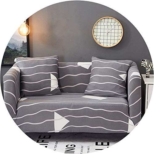 Little Happiness- Slipcover Non-Slip Elastic Sofa Covers Polyester Four Season All-Inclusive Stretch Sofa Cushion Sofa Towel 1/2/3/4-seater,Color 2,2 Seater 145-185CM ()