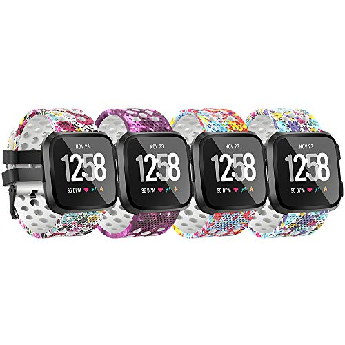 for Fitbit Versa Bands Sport Strap Material Breathable Strap Bands for Fitbit Versa Smart Fitness Watch Women Men Small Large