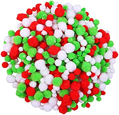Choose 8mm 15mm 25mm or Mixed Size Pompoms Pom Poms in Assorted Colour Packs