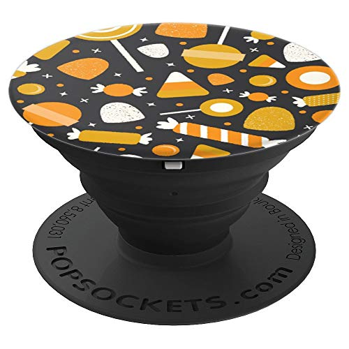 Halloween Pattern Candy Corn Sweets Treats Chocolate - PopSockets Grip and Stand for Phones and Tablets]()
