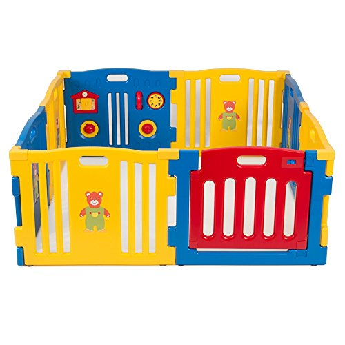 Baby Playpen Kids 8 Panel Safety Play Center Yard Home Indoor Outdoor New Pen from Unbranded*