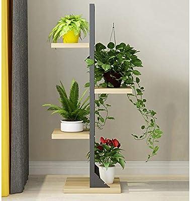 XNYY - Soporte de 4 Niveles para macetas de jardín de Madera Maciza Vertical: Amazon.es: Jardín