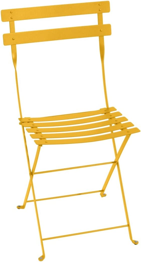 Silla plegable Bistro Fermob Color Amarillo Miel