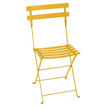 Silla plegable Bistro Fermob Color Amarillo Miel: Amazon.es ...