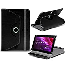 Asus Transformer Pad TF103 ( Black ) Tablet Luxury 360° Rotating PU Leather Wallet Spring Stand Skin Case Cover by ONX3
