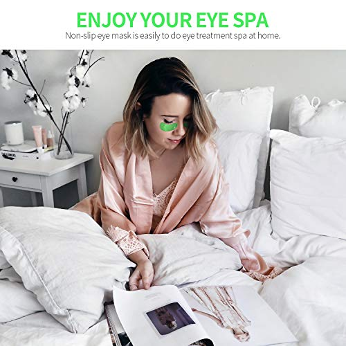 51sV1cBCrDL - FRESHME Matcha Eye Mask - 20 Pairs Under Eye Patches Aloe Vera Extract Gel Masks for Anti Aging Reduce Puffiness Dark Circles Hyaluronic Acid Deep Hydration Eye Pads Treatment Mask for Women and Men
