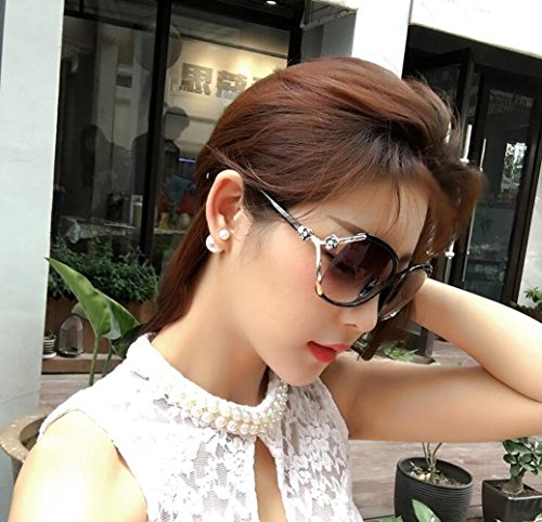 Soleil Fashion Longue élégante Noires Visage Lunettes et YANXJING simplicité de Ladies Lunettes Tour et ZwHZaf