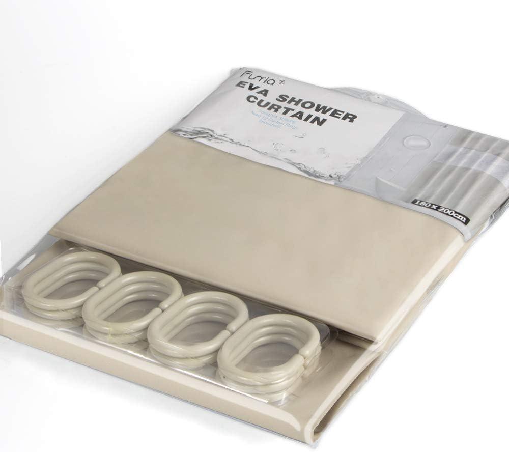 180 x 200CM Funria Duschvorhang Mehltau Best/ändiges Antibakterielles Badezimmer Vorh/änge mit Haken Wasserdicht Badezimmer Duschvorh/änge