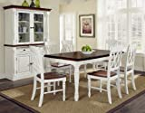 Distressed Kitchen Table Home Styles 5020-309 Monarch Rectangular Dining Table and Six Double X-Back Chair
