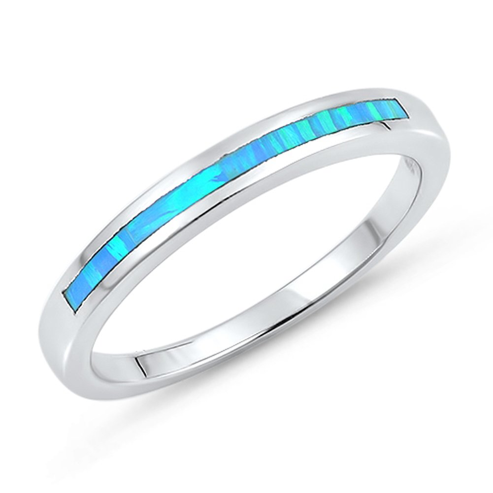 CHOOSE YOUR COLOR Sterling Silver Wedding Ring