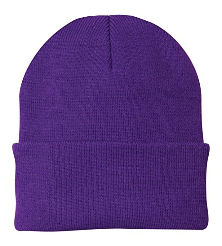 (Port & Company - Knit Cap. CP90 - Athletic Purple)
