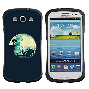 "Pulsar iFace Series Tpu silicona Carcasa Funda Case para SAMSUNG Galaxy S3 III / i9300 / i747 , Kraken minimalista Navy Blue Night"""