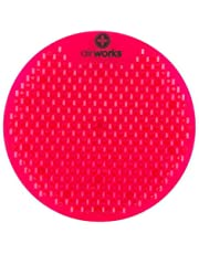 "AirWorks AWSFUS229-BX Splash Free Urinal Screen, Fruit Basket, Light 0.22 lb, 8"" Height, 6"" Width, Red (Pack of 10)"