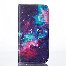 HTC M8 Case, Ngift [Star] Premium PU Flip Wallet Case Cover with Credit Card Holder [Stand Feature] Leather Case for HTC One M8