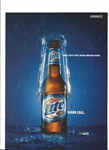 **PRINT AD** For Miller Lite Beer: Good Call Beer & Glass Scene**PRINT AD**