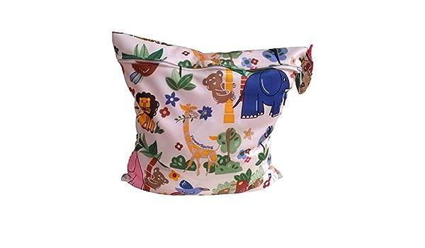 winomo Baby Bolsa de tela bolsa impermeable bolso cambiador Baby reutilizable bolsillos Organizador pl/ástico reutilizables Pa/ñales