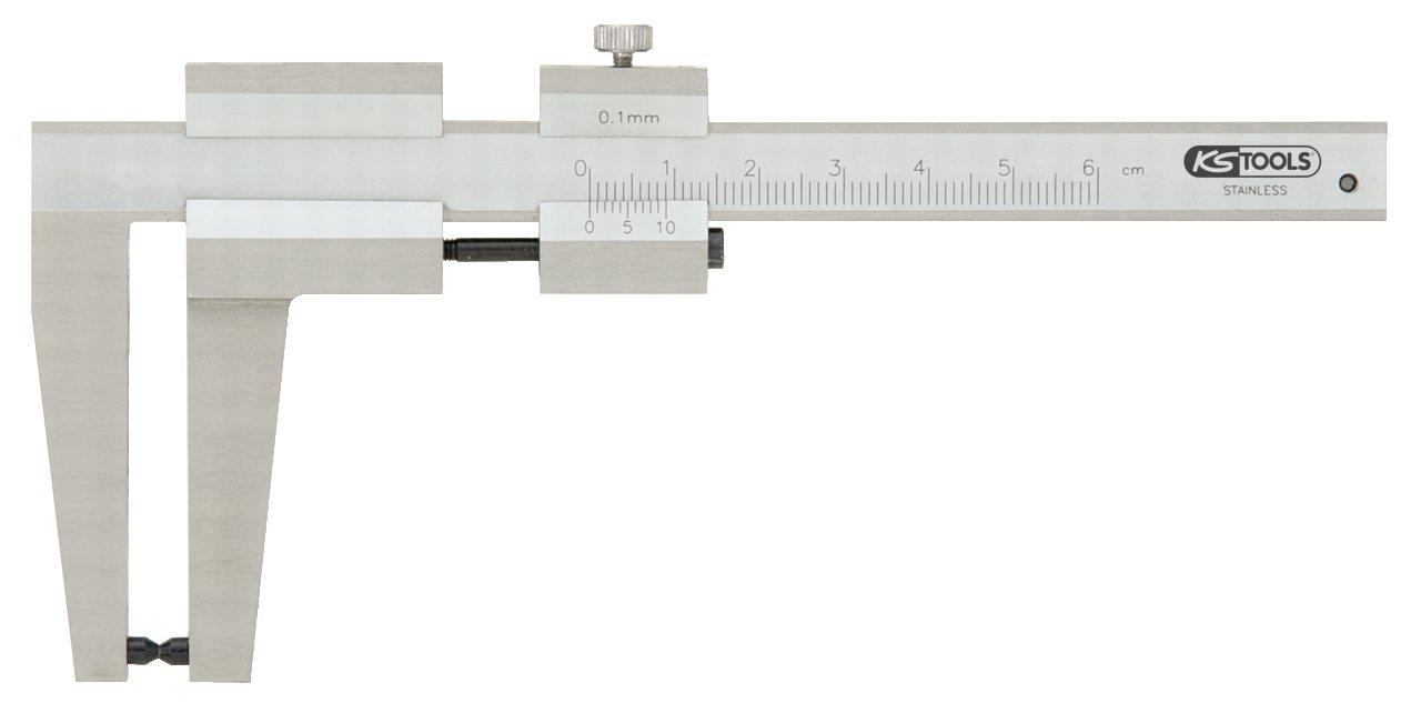 0-60 mm KS Tools 300.0535 Calibro a Corsoio per Dischi di Freni
