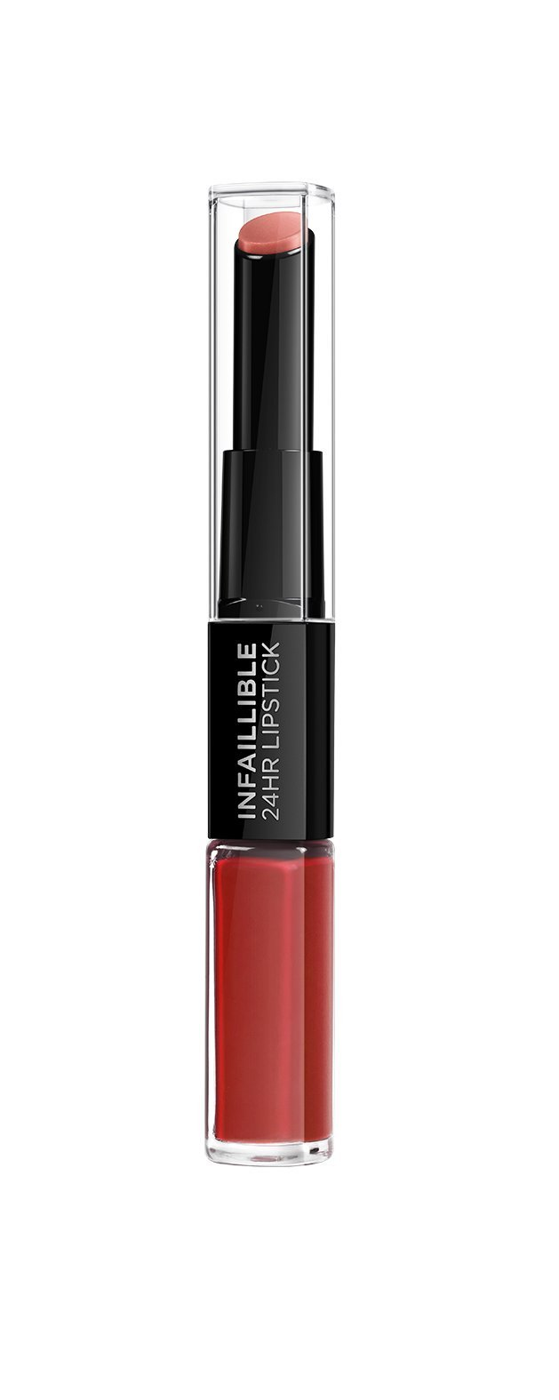 LOreal Paris Make-up Designer Pintalabios 24H Permanente, Color Rojo 506 Red