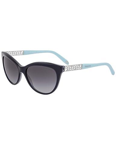 Tiffany Damen Sonnenbrille 0TY4119 81343B, Blau (Havana/Blue/Browngradient), 56