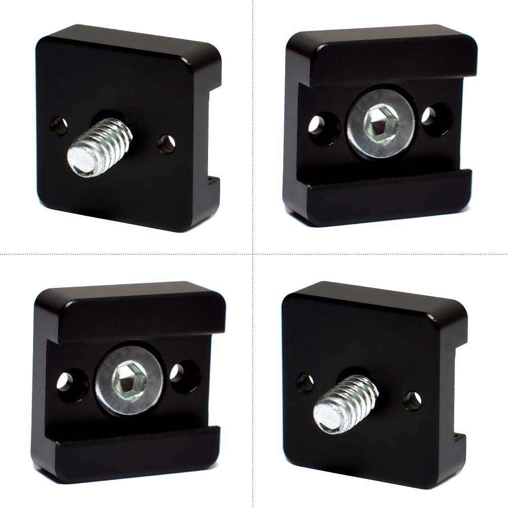 3 Pack Cold Shoe Mount Adapter Bracket Hot Shoe with 1//4 Thread for Camera DSLR Flash Led Light Monitor Video
