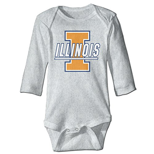 Price comparison product image OOKOO Baby's University Of Illinois Fighting Bodysuits Ash 12 Months