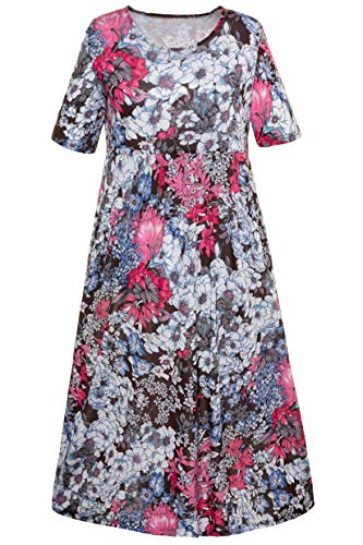- Ulla Popken Women's Plus Size Empire Line Jersey Dress Floral Multi 24/26 708192 12
