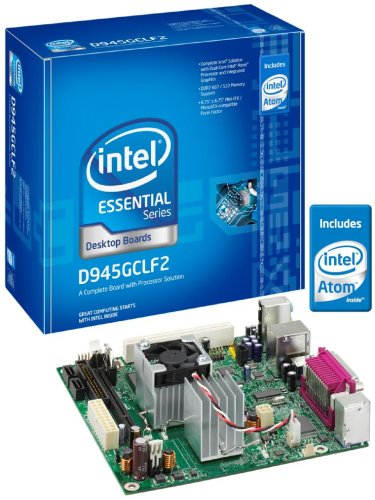 Intel D945GCLF2 Essential Series Mini-ITX DDR2 667 Intel Graphics Integrated Atom Processor Desktop Board - (Integrated Atom Processor)