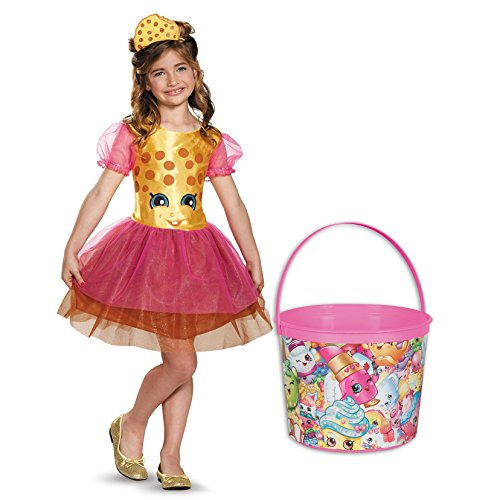 Shopkins Kookie Cookie Child Costume and Candy Pail Bundle