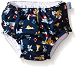 i play. Baby Boys' Snap Reusable Absorbent Swim Diaper, Navy Tugboat, 18 Months