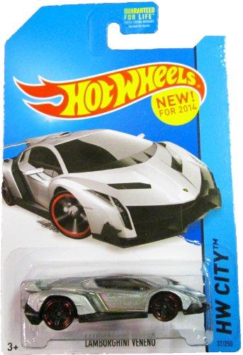 Hot Wheels - 2014 HW City 37/250 - Lamborghini Veneno (Silver)