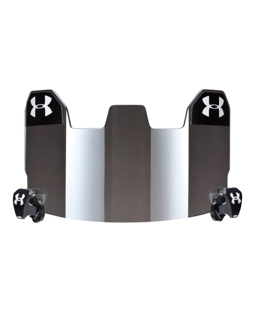 Under Armour Football Visor Gray With Mirror One Size Fits All Gray