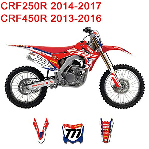 (JL'S HOME Team Decals Graphics Backgrounds Stickers For Honda CRF250R CRF450R CRF 250R 450R 250 450 Graphics Kit Full Decals Stickers,Custom Number Plate (Number/Letter/Pattern/Logo))