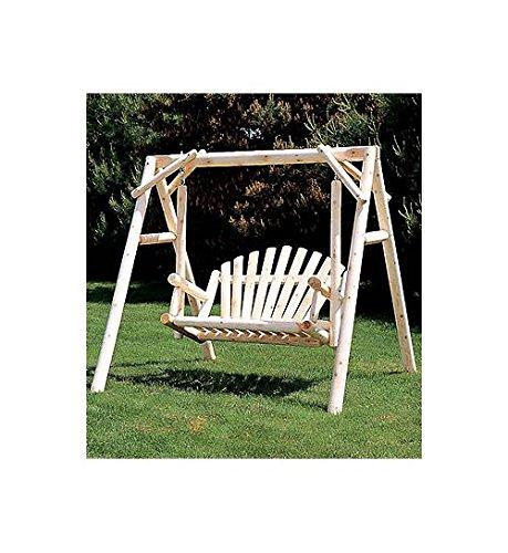 Cedarlooks 0700027 Log 5-Feet American Garden Swing with - 5 Swing American Foot Garden