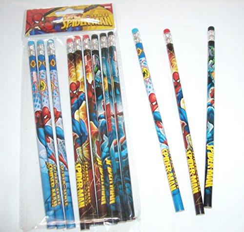 Marvel Ultimate Spiderman 12 Wood Pencils Pack Photo #4