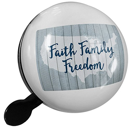 Small Bike Bell Faith Family Freedom Fourth of July USA - NEONBLOND by NEONBLOND
