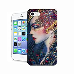 WLQ Hot Sale Phone Cover Protector for All People with Peacock Eye Make-up Snap on Hard Plastic Phone Case Skin Shell for iPhone 5 5S Case