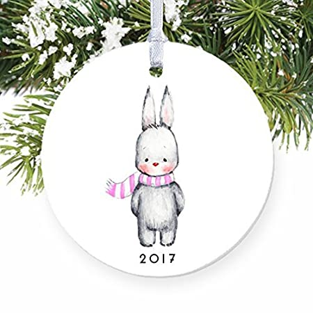 christmas ornament for kids bunny rabbit baby girl winter bunnie ornaments for christmas tree
