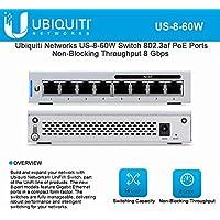 UniFi US-8-60W 8-Port Gigabit PoE Compliant Managed Switch
