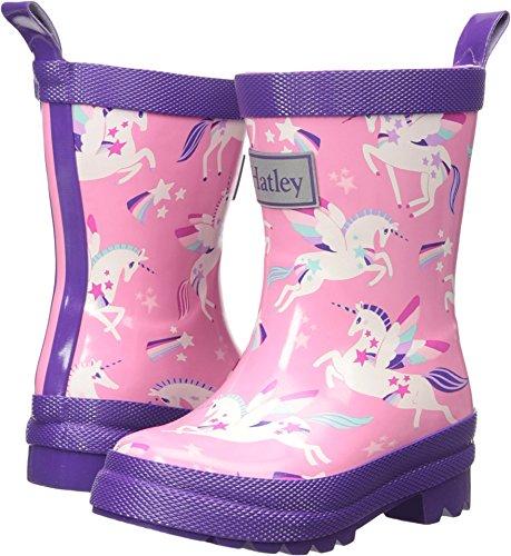 - Hatley Girls' Big Printed Rain Boots, Winged Unicorns, 1 US