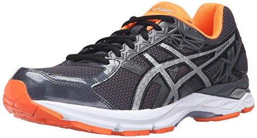 asics-mens-gel-exalt-3-running-shoe-dark-grey-silver-hot-orange-105-m-us