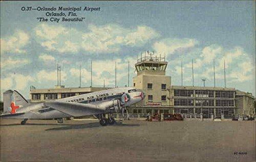 Orlando Municipal Airport in The City Beautiful Orlando, Florida Original Vintage - Airport Orlando Florida