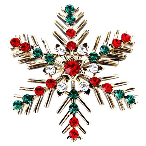 (Women's Austrian Crystal Winter Snowflake Brooch Pin Christmas Brooch Pins)