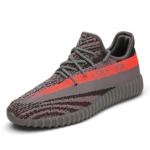 Kamma Men's Women's Lightweight Fashin Sneakers Athletic Knit Running Shoes Couple Tennis Fitness Jogging Shoes (44/13 B(M) US Women / 9.5 D(M) US Men, Grey) by Kamma
