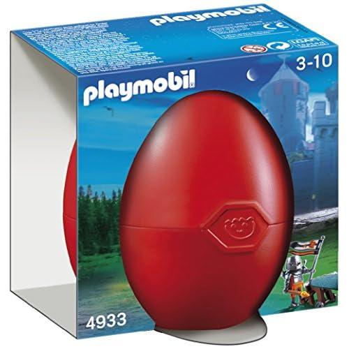 Playmobil 4933 - Jeu de construction - Œuf 2012 Chevalier du Faucon avec canon