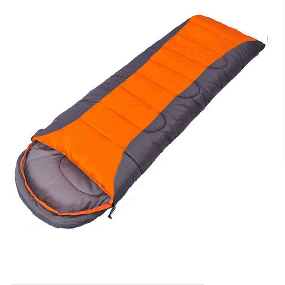 A SXY Outdoor Schlafsack 1600g Winter Verdickung Outdoor Camping Schlafsack Orange Grau Blau Grau Farbabstimmung Schlafsack Selbstfahrender Camping Schlafsack