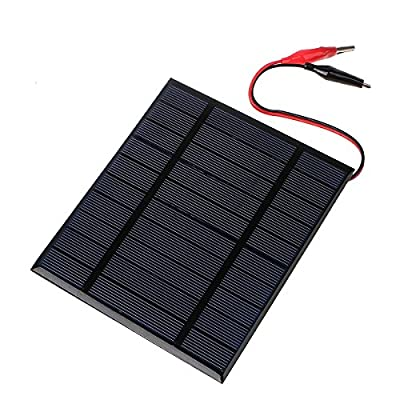 Solar Panel Charger, MOHOO 18V 12V 8W Portable Solar Car Boat Power Sunpower Solar Panel Battery Charger Maintainer for Automobile Motorcycle Tractor Boat Batteries