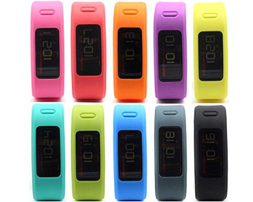 Multi Color Wristband (HONECUMI Multi-Color Replacement Wrist Bands With Clasps for Garmin Vivofit)