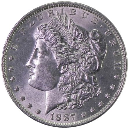 1887 Morgan Silver Dollar Uncirculated Rare MS/BU US Coin $1