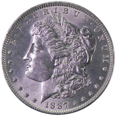 1887 Morgan Silver Dollar Uncirculated Rare MS/BU US Coin $1