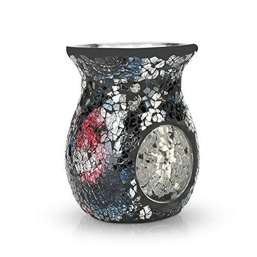 Sumworld Mosaic Oil Burner/Essential Oil Burner/Tealights Mosaic Wax Melt/Aromatherapy Essential Oil Burner/Hollow Flower Candle Holder/Great Decoration for Living Room/Home Fragrance